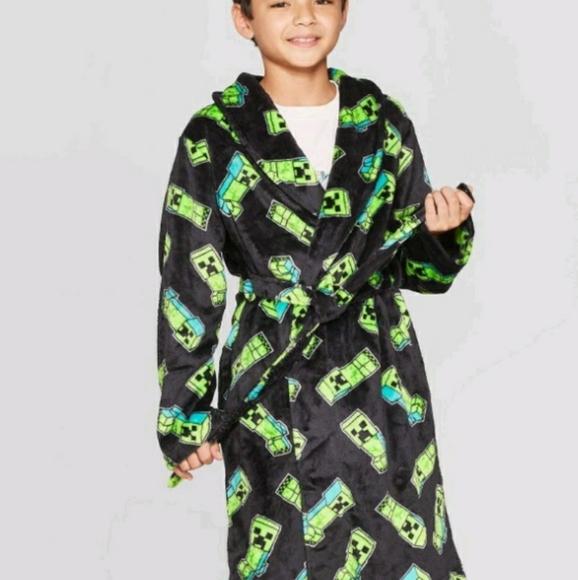 Minecraft Boys Luxe Plush Robe